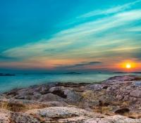 Solnedgång över Valboholmen