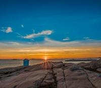 Solnedgång över Stångehuvud